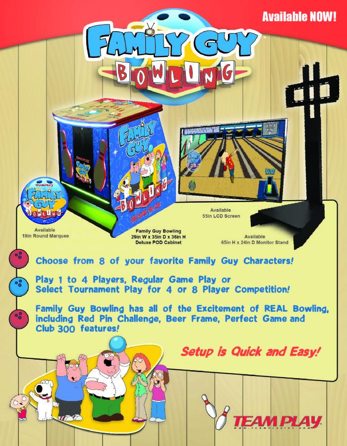 Family Guy Bowling Video Games Pinballsalescom